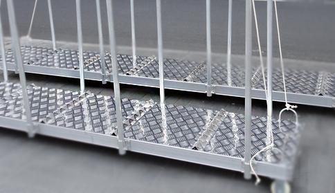 山东船舶跳板铝梯踏板用铝合金花纹板